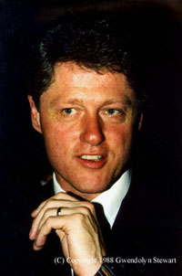 Photograph of BILL  CLINTON by GWENDOLYN STEWART c. 2011; All Rights Reserved