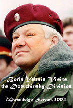 BORIS YELTSIN VISITS THE DZERZHINSKY DIVISION; Photograph by GWENDOLYN  STEWART c. 2015
