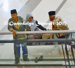 Watching  a Beauty Contest at the Plaza Ambarrukmo from Above, Yogyakarta,  Indonesia, Photographed by Gwendolyn Stewart c.2014; All Rights  Reserved