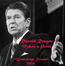 Photograph of RONALD REAGAN by GWENDOLYN STEWART �2014; All Rights Reserved